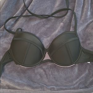 Army green bikini push up halter
